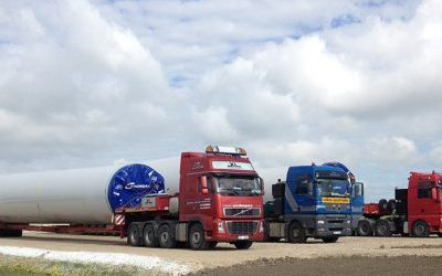TRANSPORTATION OF WIND POWER PLANT PARTS
